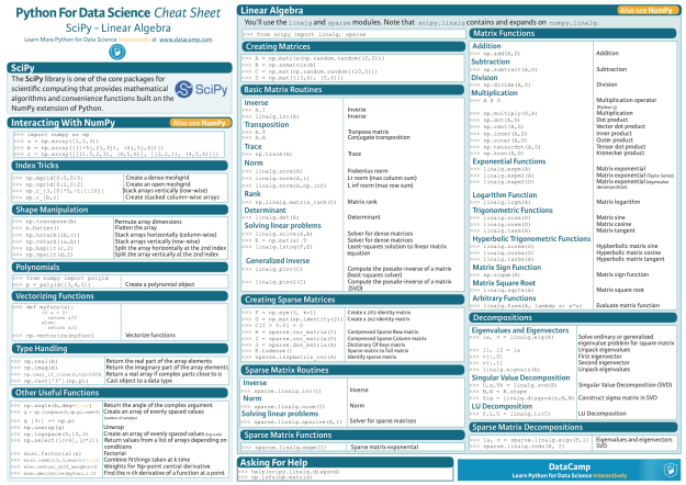 python_scipy_cheat_sheet_linear_algebra