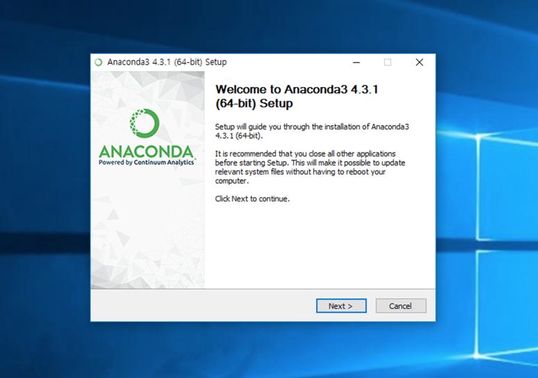 윈도우즈에 아나콘다, 텐서플로 설치하기 | 텐서 플로우 블로그